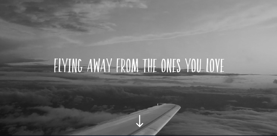 Flying away from the ones you love
